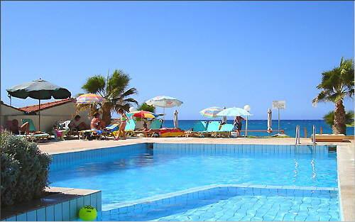 Swimming pool, sun terrace, Aegean Sea
