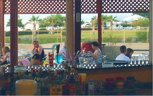 View from the bar towards the terrace