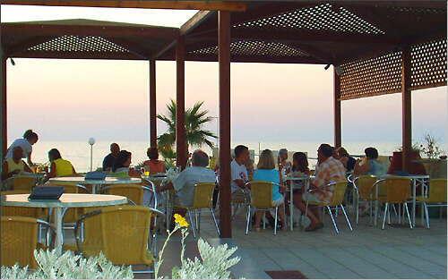Dusk over the terrace