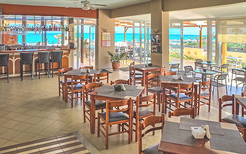 Restaurant and sea view
