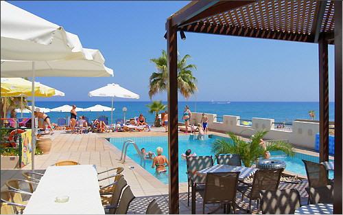 Swimming pool and Aegean Sea